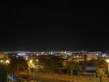 Вид на ночной Эйлат из окна Arcadia SPA