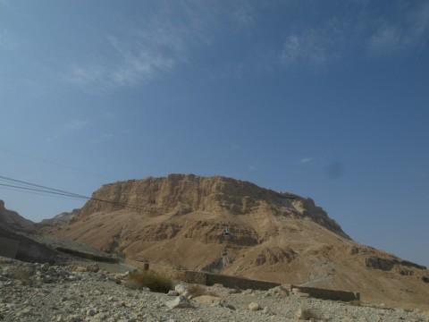 Вид на Масаду от начала Змеиной тропы