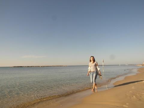 На пляже в Тель-Авиве