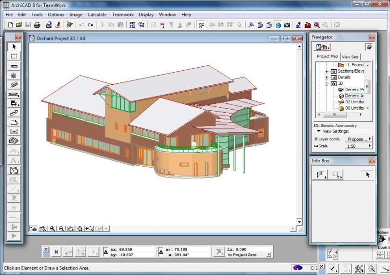 2002 - скриншот Archicad 8