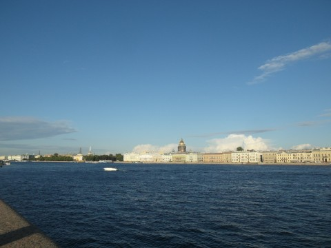 Вид на Неву от Благовещенского моста