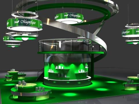 Выставочный стенд в 3Д
