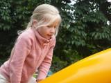 На детской площадке в парке Красная Пресня