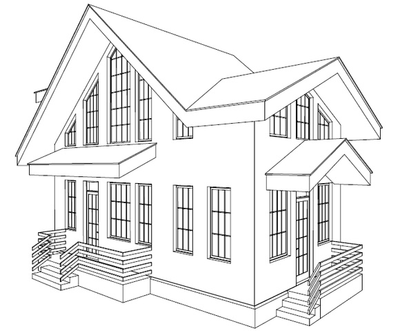 Дом в 3Д окне ArchiCAD