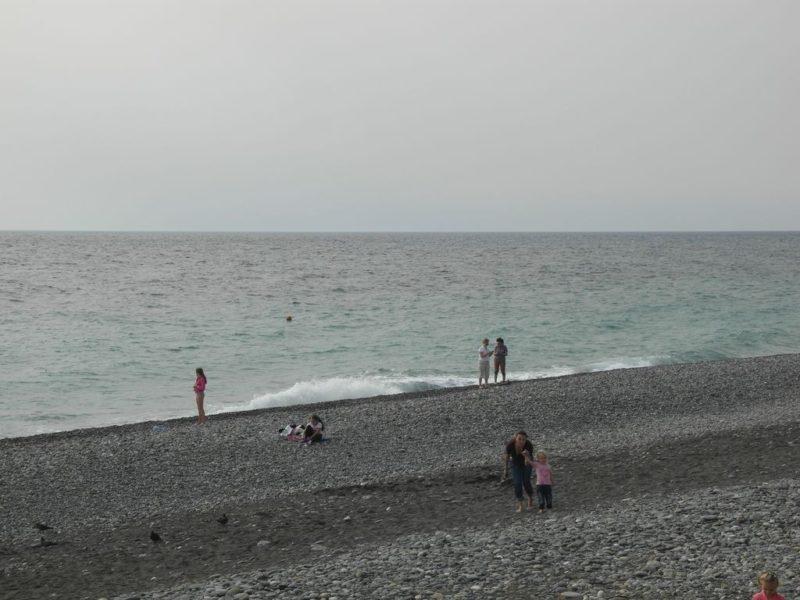 На пляже в Некрасовском
