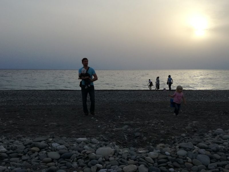 На пляже в Имеретинке
