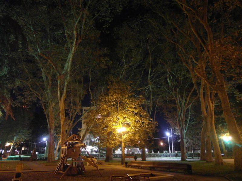 Вечер в парке Бестужева в Адлере