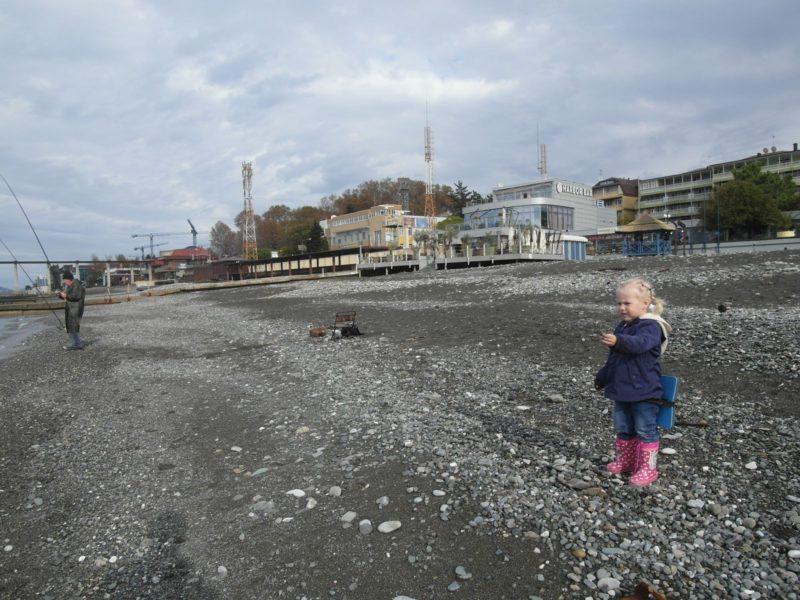 7 ноября на пляже в Адлере