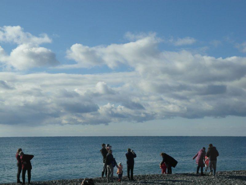На пляже в Нижнеимеретинской бухте