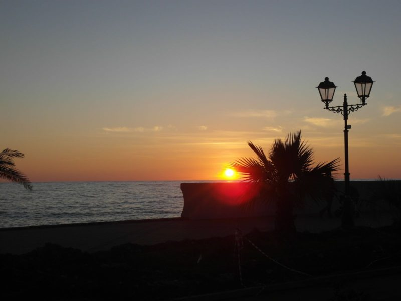 Закат на Черном море в ноябре