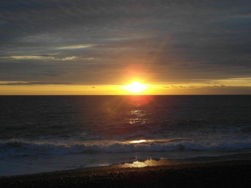 Закат над морем 11 декабря