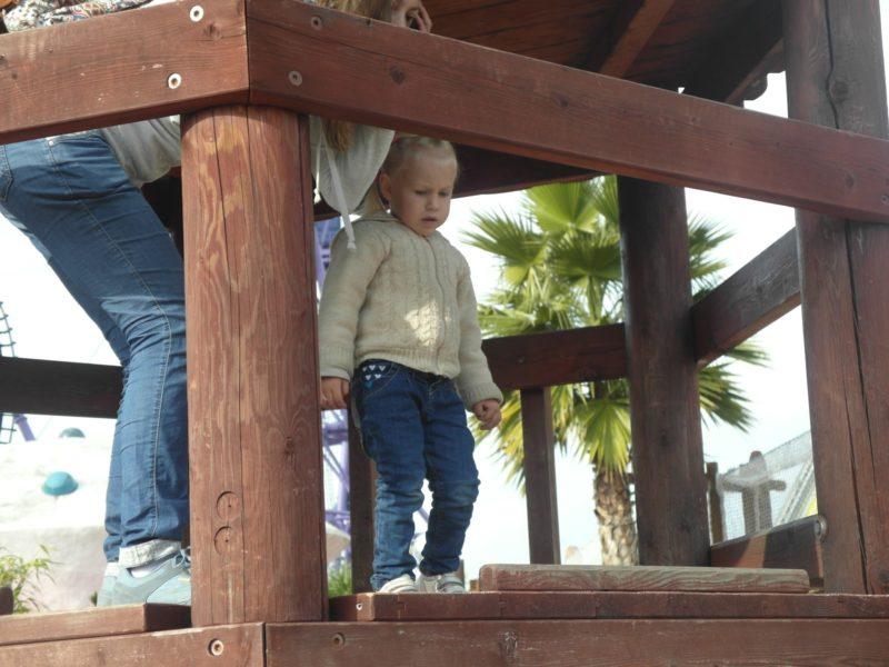 Детская площадка в Сочи-парке 30 декабря