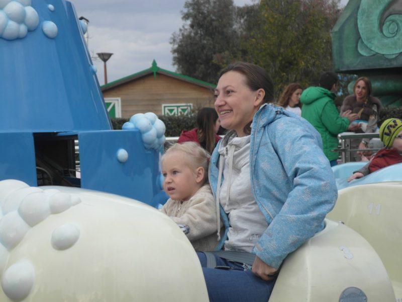 Аттракцион для малышей в Сочи-парке 30 декабря